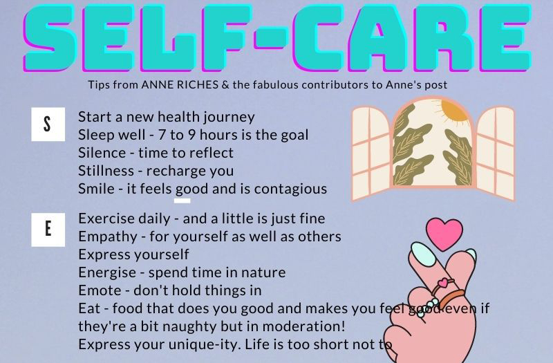 anne riches mental health self care tips